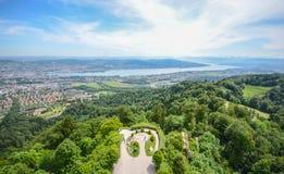 Uetlibergheuvel, Zürich, Zwitserland Stock Afbeeldingen