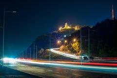 Ufa the capital of the Republic of Bashkortostan. Nightlife capital of Bashkortostan Ufa Stock Photography