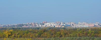 Ufa city. Panoramic view of Ufa city, Bashkortostan Stock Images