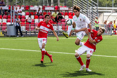 16 07 15 Ufa-gioventù della Mosca-gioventù 2-3 di Spartak, momenti del gioco Fotografia Stock