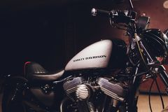 Ufa, Rosja, 2 Listopad, 2018: Harley Davidson motocykle 1997 obrazy royalty free