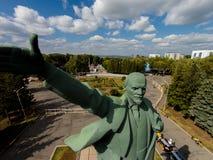 Ufa Rosja, Wrzesień, - 08, 2014: Obrazki Lenin robi selfie Zdjęcia Royalty Free
