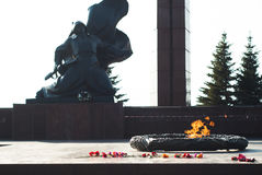 Ufa - Russia on 28 April 2017 - Victory Park, the eternal flame and the memorial Stock Image