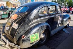 Ufa, Russia, 22 June 2019: The 7th Peking to Paris Motor Challenge. Ford Deluxe Fordor is a American luxury car 1940 stock image