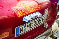 Ufa, Russland, am 22. Juni 2019: Das 7. Peking zur Paris-Bewegungsherausforderung Klassisches schwedisches Auto Volvo 123 GT, Rüc lizenzfreie stockbilder