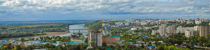 Ufa. View from the window at the beautiful city Royalty Free Stock Image
