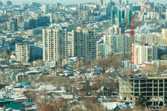 Ufa 9. View from the window at the beautiful city Royalty Free Stock Photography