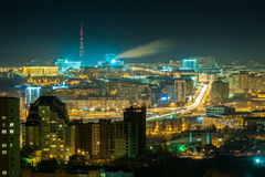 Ufa 010. View from the window at the beautiful city Royalty Free Stock Image