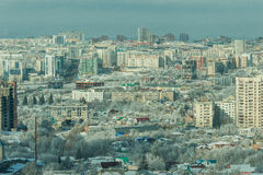 Ufa 011. View from the window at the beautiful city Stock Images