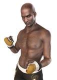 UFC战斗机拳击手男性 免版税库存图片