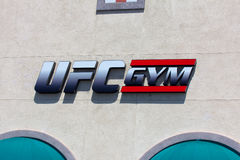 UFC Gym Exterior and Logo Royalty Free Stock Image