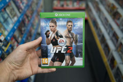 UFC 2 videogame on XBOX One Royalty Free Stock Images