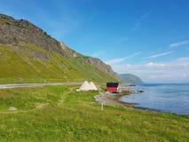 Ufer der Lofoten-Insel lizenzfreie stockfotografie