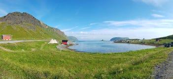 Ufer der Lofoten-Insel stockbilder