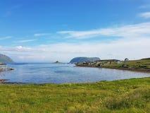 Ufer der Lofoten-Insel stockfotos