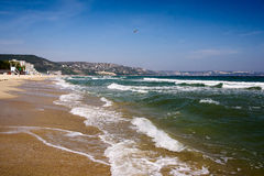 Ufer des Erholungsortes Schwarzen Meers in Bulgarien Abena Lizenzfreies Stockfoto