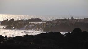 Ufer des Indischen Ozeans stock footage