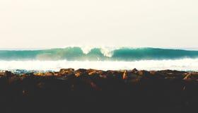 Ufer des Indischen Ozeans Stockbild