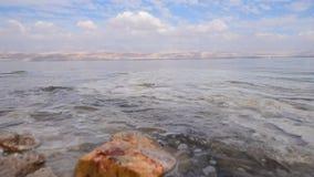 Ufer des Toten Meers stock footage