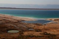 Ufer des Toten Meers Stockbilder