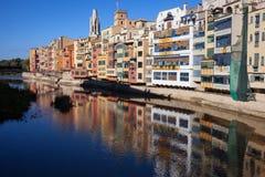 Ufer-Häuser in Girona Lizenzfreies Stockfoto