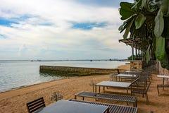 Ufer vom Golf von Thailand Stockfotografie