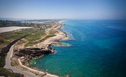 Ufer vom Mittelmeer stockfotografie