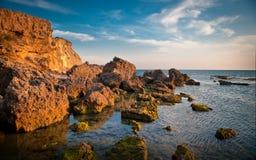 Ufer vom Mittelmeer stockfoto