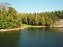 Ufer von Grinda-Insel im Stockholm-Archipel, Schweden stockfotos