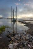 Ufer von Hauser See, Idaho Stockfotografie