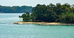 Ufer von Insel Subar Darat, Singapur Stockbild