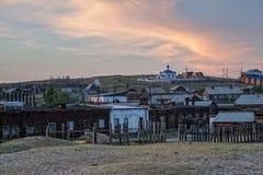 Ufer von Khuzhir-Dorf auf dem Baikalsee Stockfoto