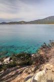 Ufer von Lake Tahoe Stockfotos