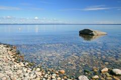 Ufer von See Ladoga Lizenzfreies Stockbild
