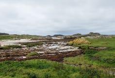 Ufer am Westpunkt der Insel von Mull, Schottland stockfotos