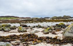 Ufer am Westpunkt der Insel von Mull, Schottland stockfoto