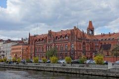 Ufergegend auf Fluss Brda in Bydgoszcz Lizenzfreie Stockfotos