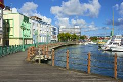 Ufergegend in Bridgetown - Barbados Stockbilder
