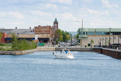 Ufergegend in Collingwood, Ontario Stockbilder