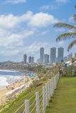 Ufergegend-Gebäude und Strand Natal Brazil Stockfoto