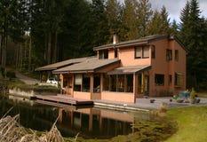 Ufergegend-Haus Stockbild