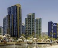 Ufergegend-Park, im Stadtzentrum gelegenes San Diego, Kalifornien Lizenzfreie Stockbilder