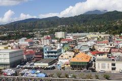 Ufergegend-Speicher in Rosseau Dominica Stockbilder