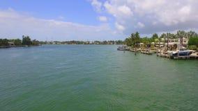 Ufergegend steuert Miami Beach automatisch an stock footage