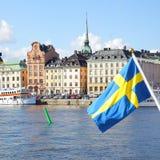 Ufergegend in Stockholm lizenzfreie stockfotos