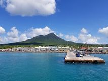 Ufergegend u. Fährhafen Charlestown Nevis Lizenzfreies Stockfoto