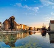 Ufergegend von Gdansk mit Reflexion Stockfoto