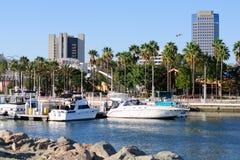 Ufergegend von Long Beach in Los Angeles-Ballungsraum Stockfotos
