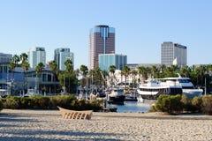 Ufergegend von Long Beach in Los Angeles-Ballungsraum Stockbilder