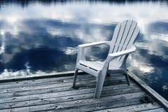 Ufergegendansicht tonte Blau lizenzfreie stockfotos